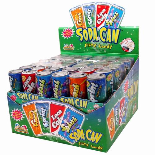 KIDSMANIA - SODA CAN FIZZY CANDY 12 CT