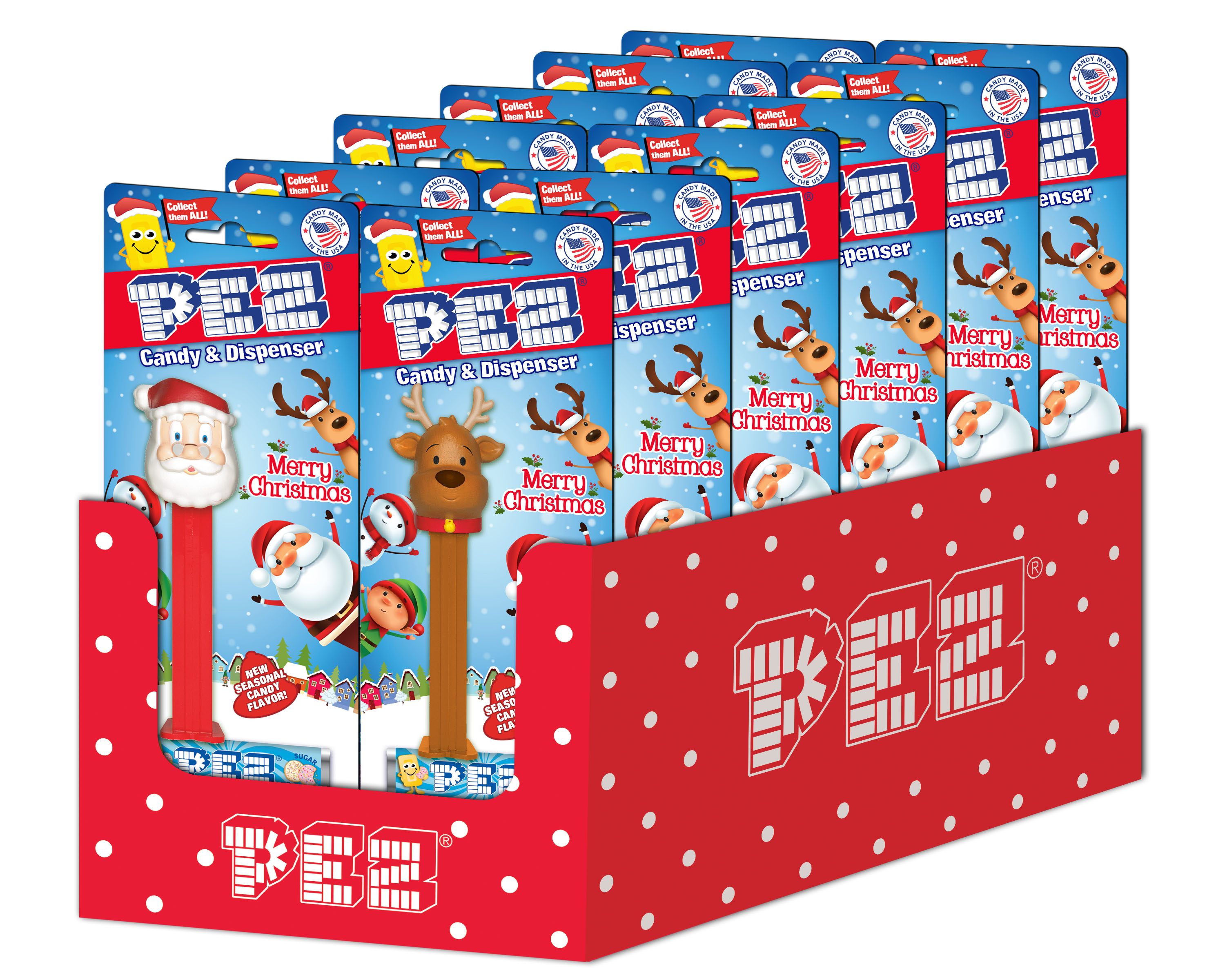 PEZ - CHRISTMAS ASSORTMENT 12 CT