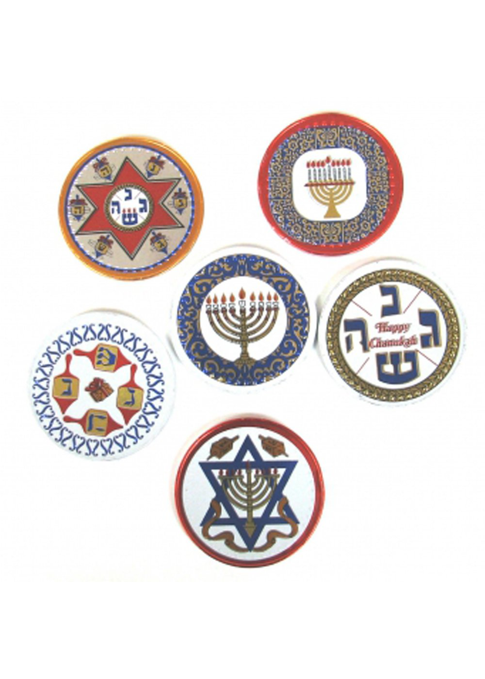 MAD - CHANUKAH DISCS .375 OZ 192 CT