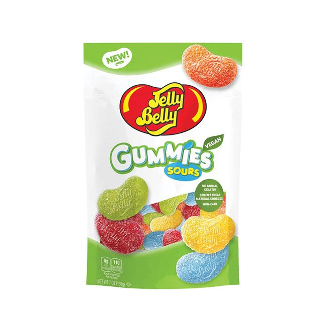 (G) 7 OZ BAG JELLY BELLY SOUR GUMMIES 12 CT