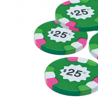MAD - POKER CHIPS / $25 GREEN MILK