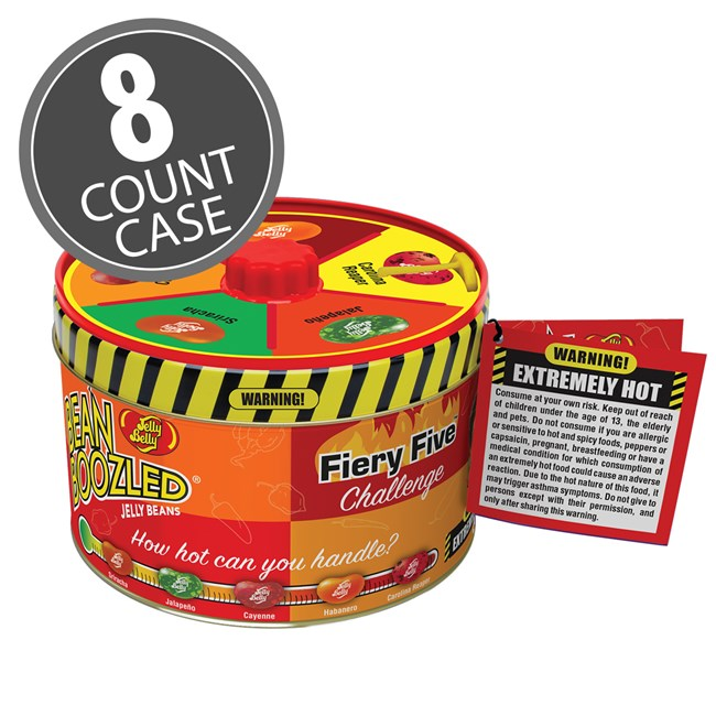 (G) BEANBOOZLED FIERY FIVE SPINNER TIN 3.36 OZ 8 CT