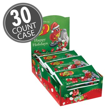 (G) 1 OZ JELLY BELLY XMAS MIX BAGS 30 CT