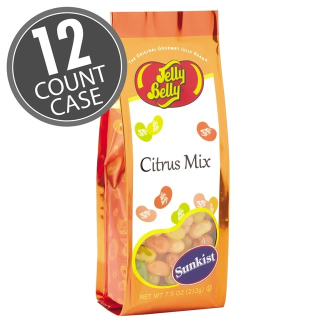 (G) 7.5 OZ JELLY BELLY SUNKIST CITRUS BAG - 12 CT