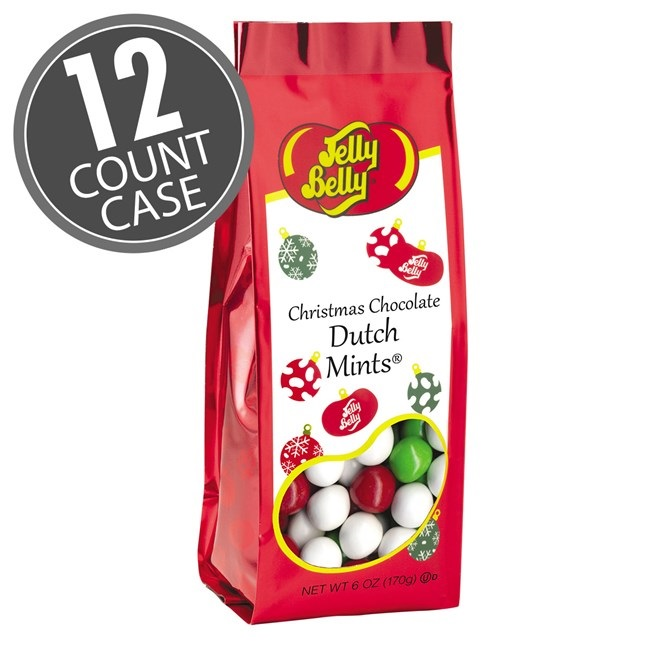 (G) 6 OZ XMAS DUTCH MINTS BAGS-12 CT