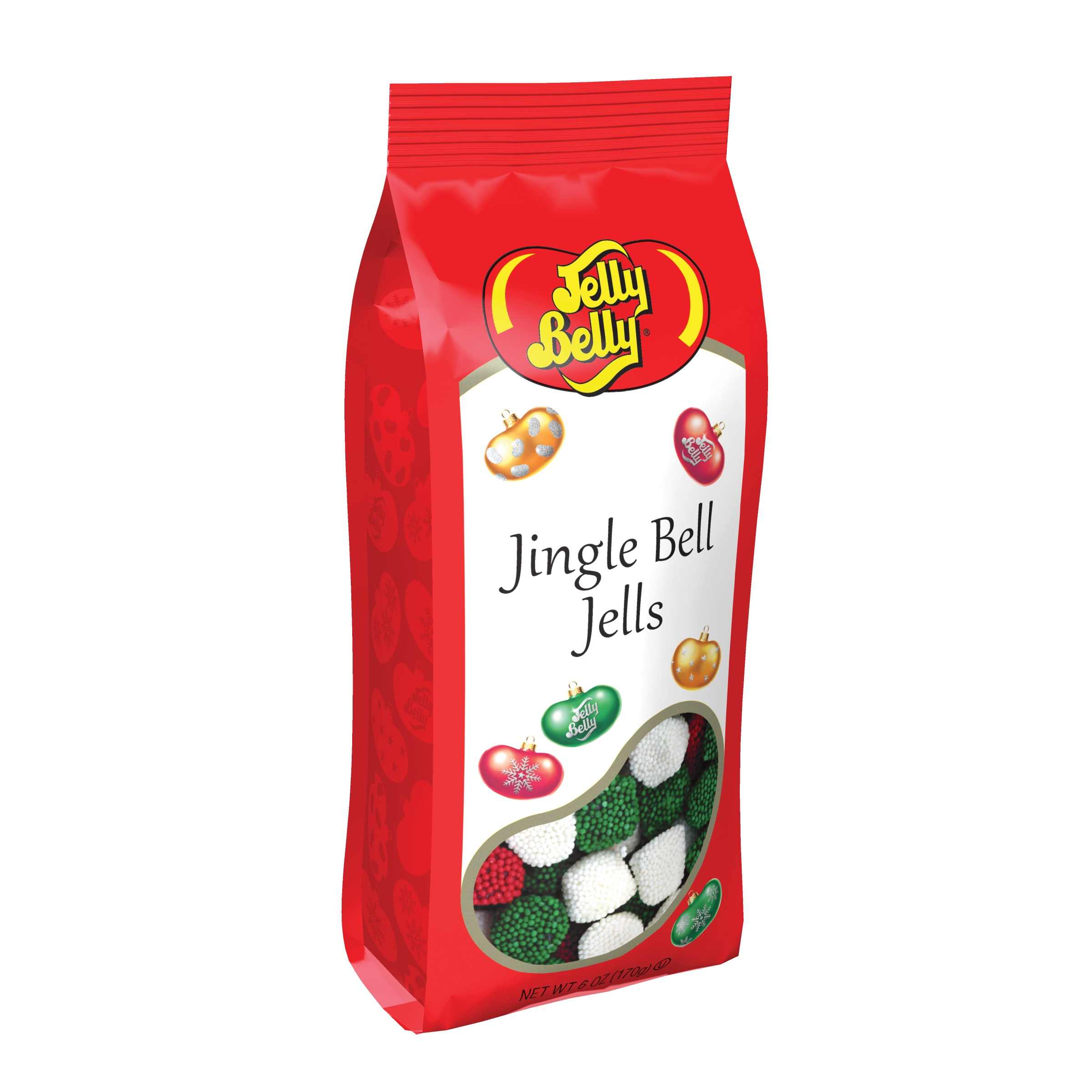 (G) 6 OZ JINGLE BELL JELLS BAGS -12 CT
