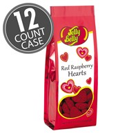 (G) 5.5 OZ RED RASPBERRY HEARTS BAGS -12 CT