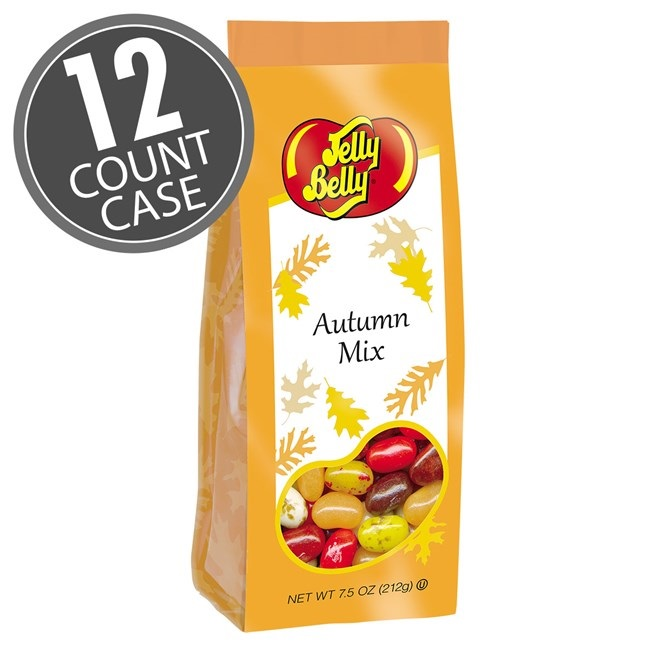 (G) 7.5 OZ JELLY BELLY AUTUMN MIX BAGS -12 CT