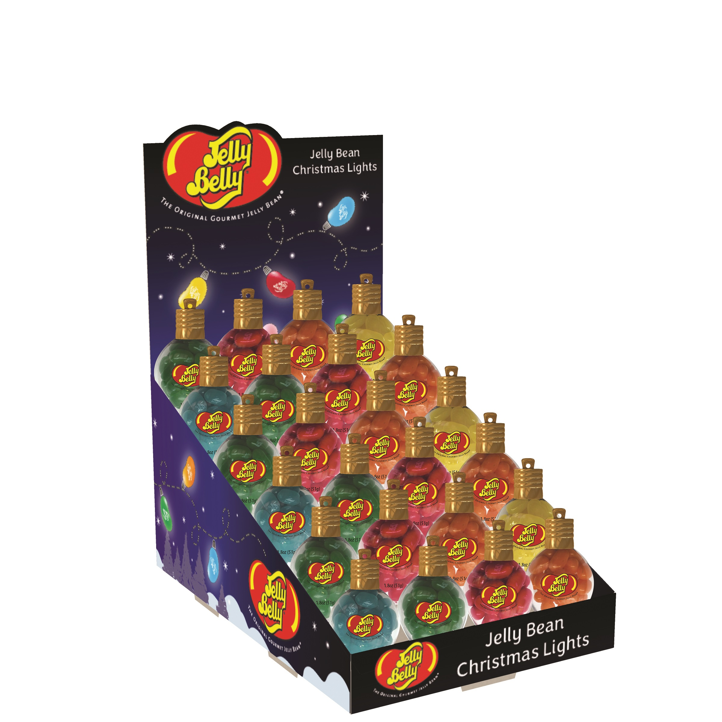 (G) JELLY BELLY XMAS LIGHTS - 1.5 OZ 48 CT